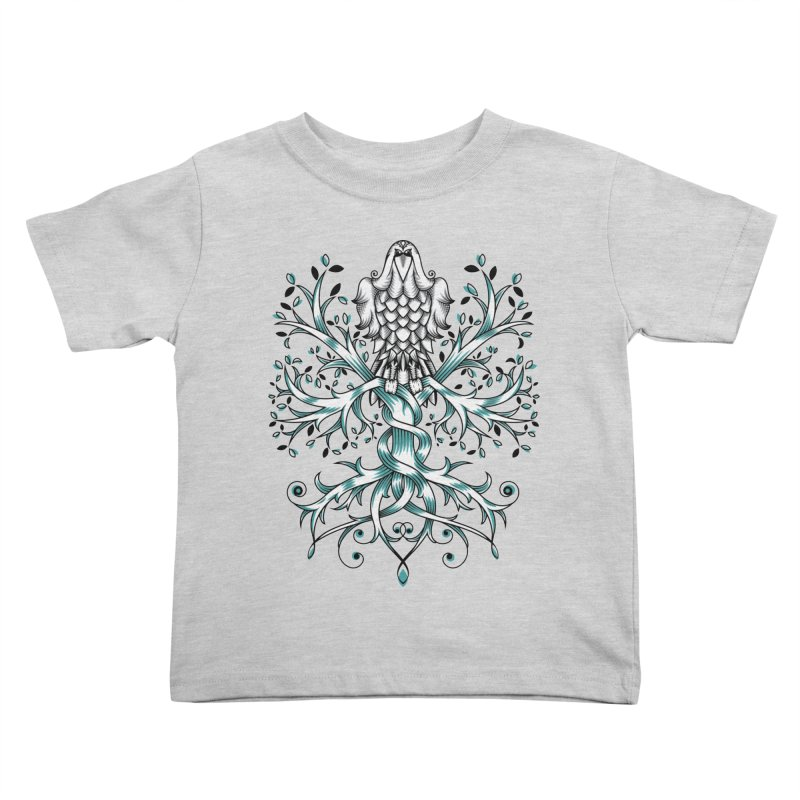 Raven & Tree of Life Kids Toddler T-Shirt by thebraven's Artist Shop