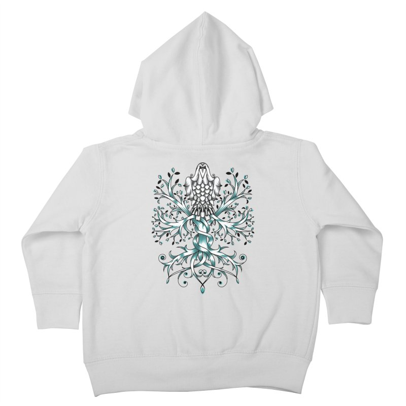 Raven & Tree of Life Kids Toddler Zip-Up Hoody by thebraven's Artist Shop