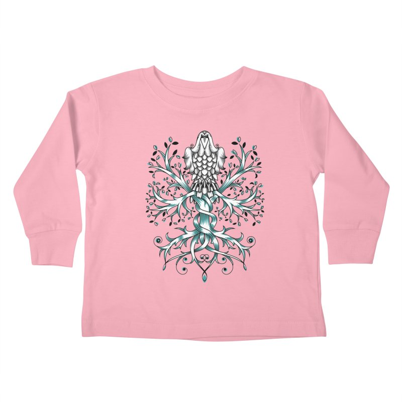 Raven & Tree of Life Kids Toddler Longsleeve T-Shirt by thebraven's Artist Shop