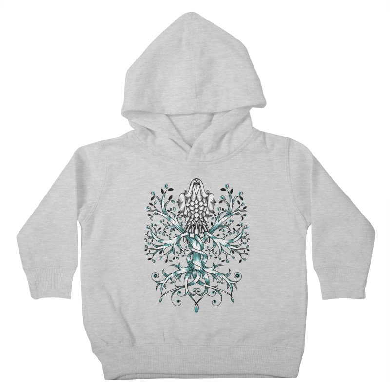 Raven & Tree of Life Kids Toddler Pullover Hoody by thebraven's Artist Shop