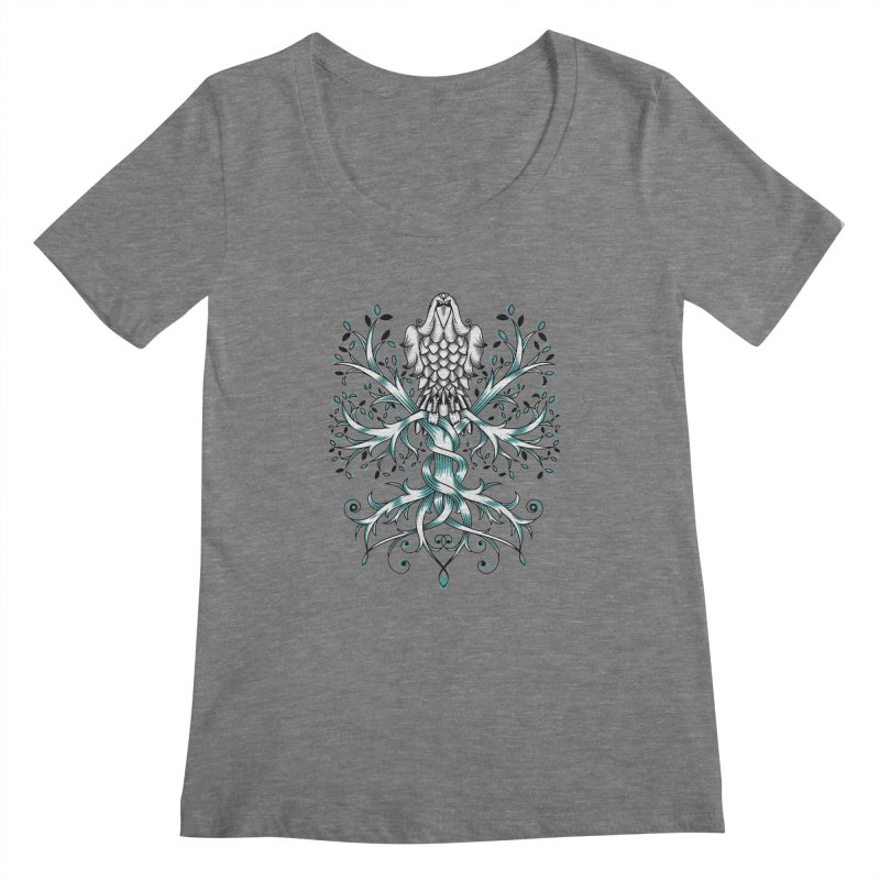 Raven & Tree of Life Women's Scoopneck by thebraven's Artist Shop