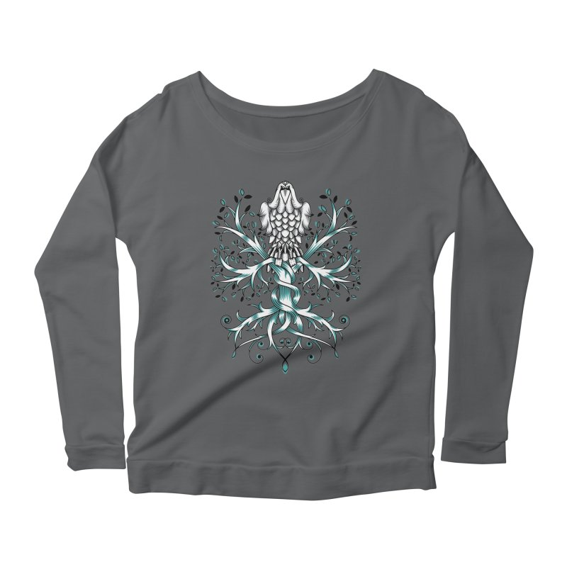 Raven & Tree of Life Women's Longsleeve Scoopneck  by thebraven's Artist Shop