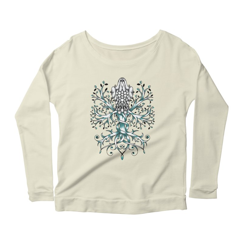 Raven & Tree of Life Women's Scoop Neck Longsleeve T-Shirt by thebraven's Artist Shop