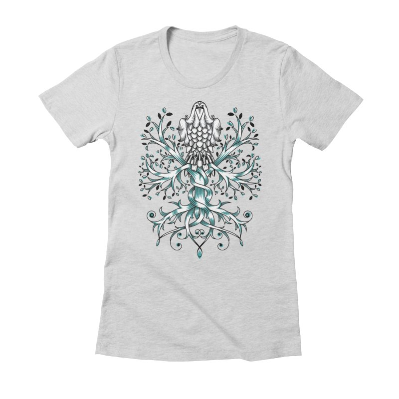Raven & Tree of Life Women's Fitted T-Shirt by thebraven's Artist Shop