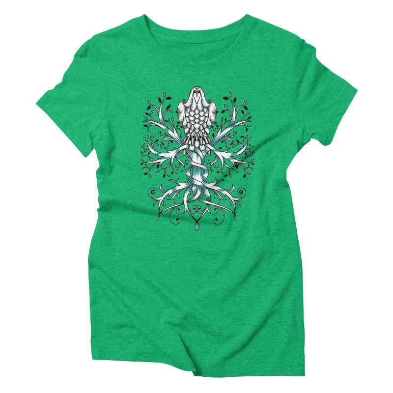 Raven & Tree of Life Women's Triblend T-Shirt by thebraven's Artist Shop