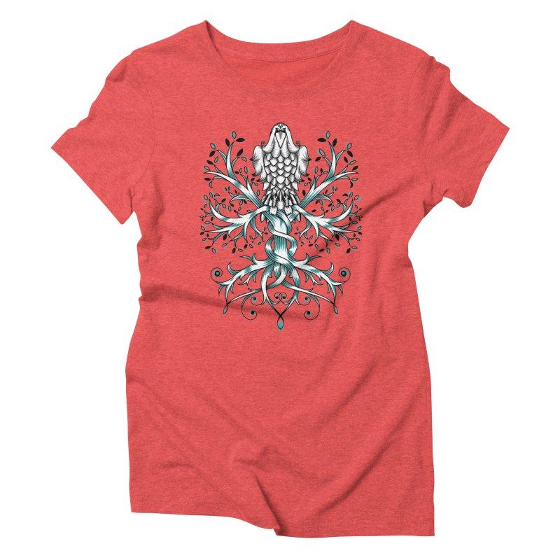 Raven & Tree of Life Women's Triblend T-Shirt by thebraven's Artist Shop