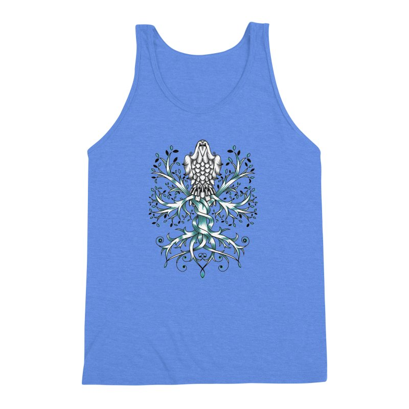 Raven & Tree of Life Men's Triblend Tank by thebraven's Artist Shop