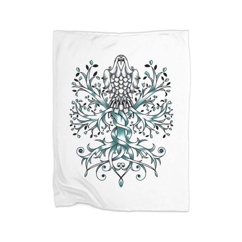 Raven & Tree of Life Home Blanket by thebraven's Artist Shop