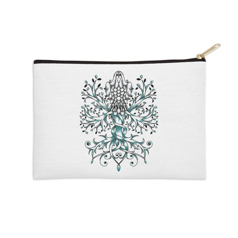 Raven & Tree of Life Accessories Zip Pouch by thebraven's Artist Shop