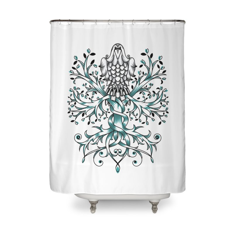 Raven & Tree of Life Home Shower Curtain by thebraven's Artist Shop