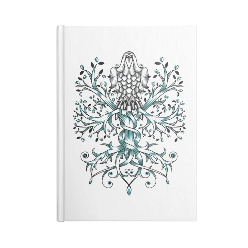 Raven & Tree of Life Accessories Notebook by thebraven's Artist Shop