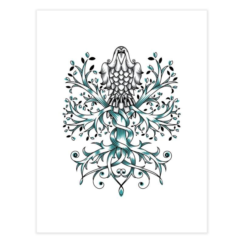 Raven & Tree of Life Home Fine Art Print by thebraven's Artist Shop