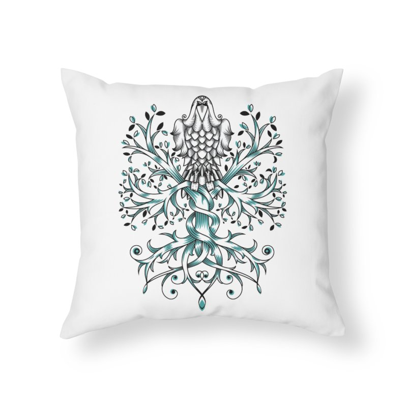 Raven & Tree of Life Home Throw Pillow by thebraven's Artist Shop