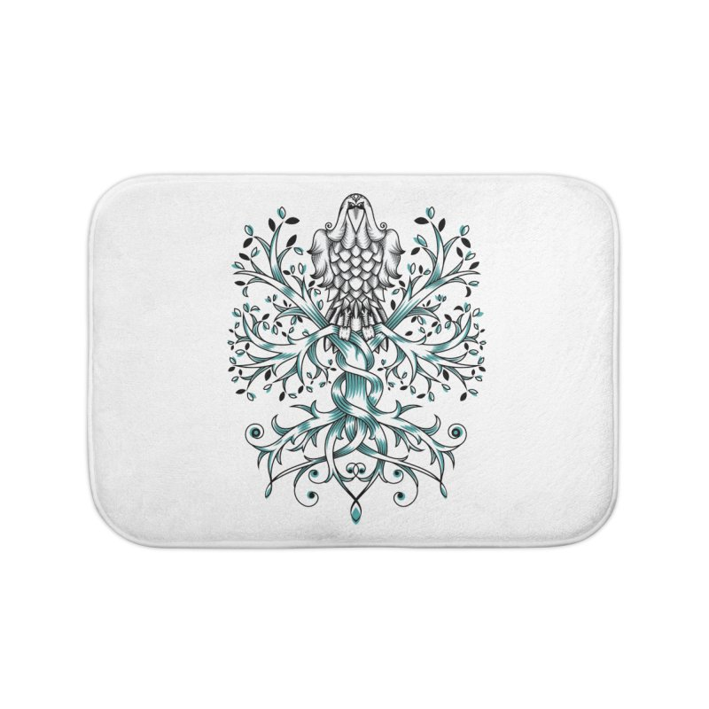 Raven & Tree of Life Home Bath Mat by thebraven's Artist Shop