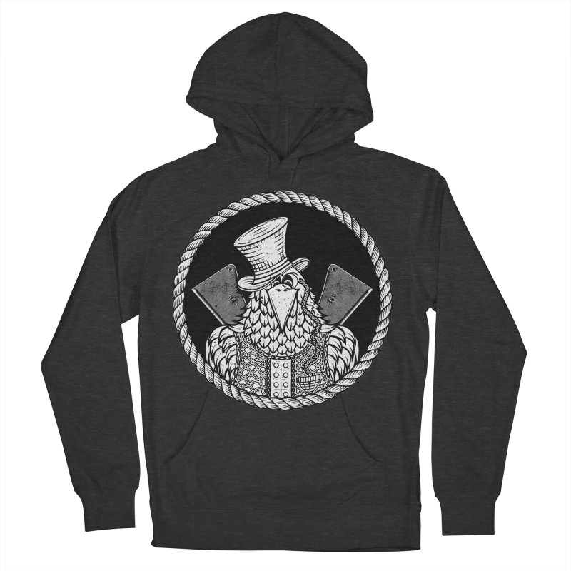 Not so friendly Raven Men's French Terry Pullover Hoody by thebraven's Artist Shop