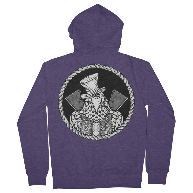 Not so friendly Raven Men's French Terry Zip-Up Hoody by thebraven's Artist Shop