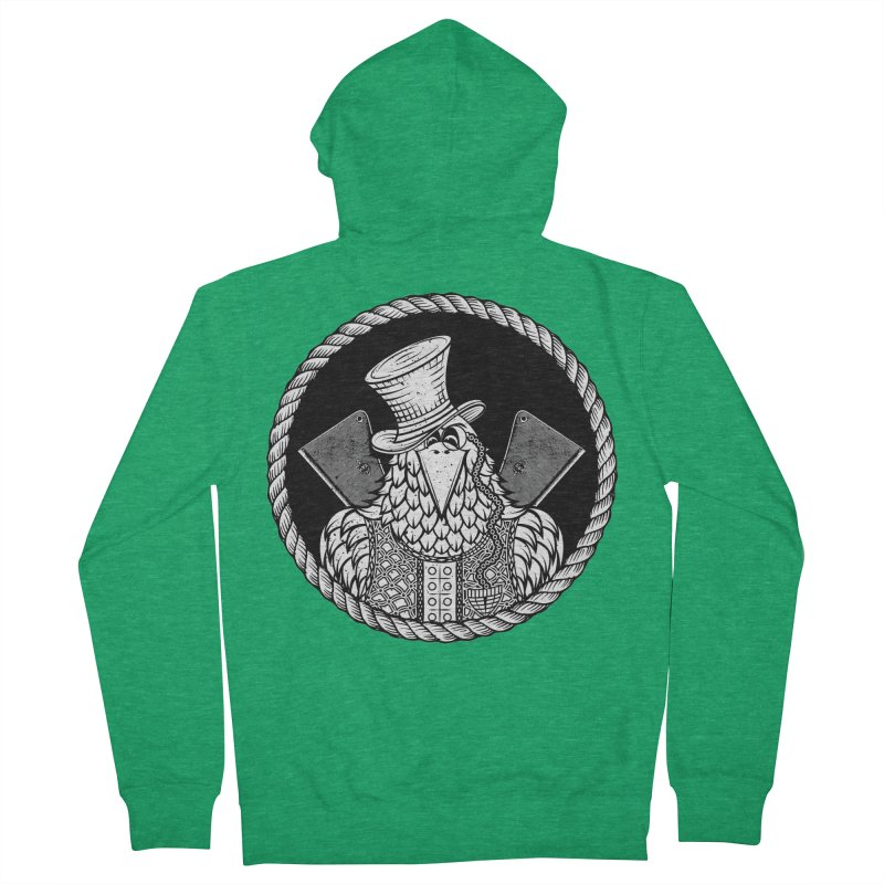 Not so friendly Raven Men's Zip-Up Hoody by thebraven's Artist Shop