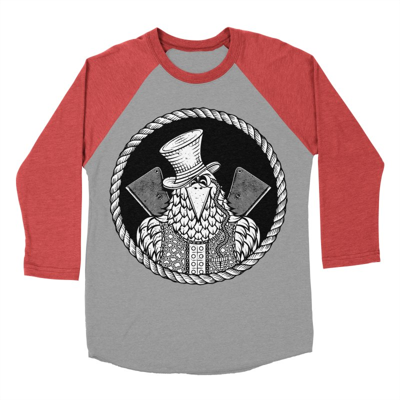 Not so friendly Raven Women's Baseball Triblend Longsleeve T-Shirt by thebraven's Artist Shop