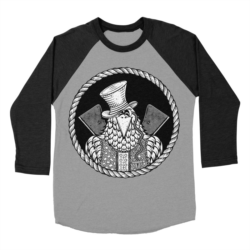 Not so friendly Raven Women's Baseball Triblend T-Shirt by thebraven's Artist Shop