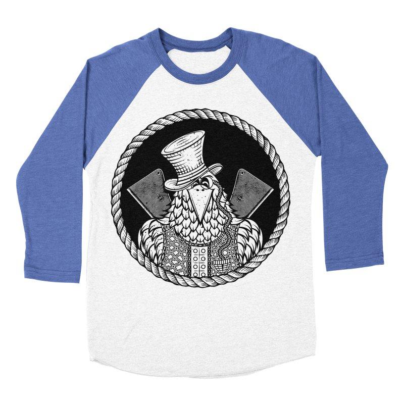 Not so friendly Raven Men's Baseball Triblend T-Shirt by thebraven's Artist Shop