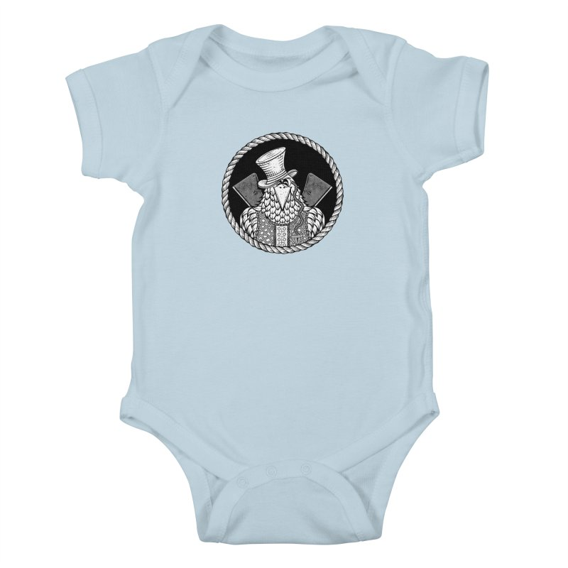 Not so friendly Raven Kids Baby Bodysuit by thebraven's Artist Shop