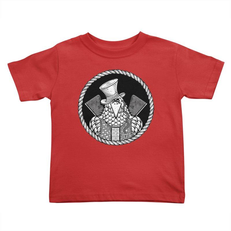 Not so friendly Raven Kids Toddler T-Shirt by thebraven's Artist Shop