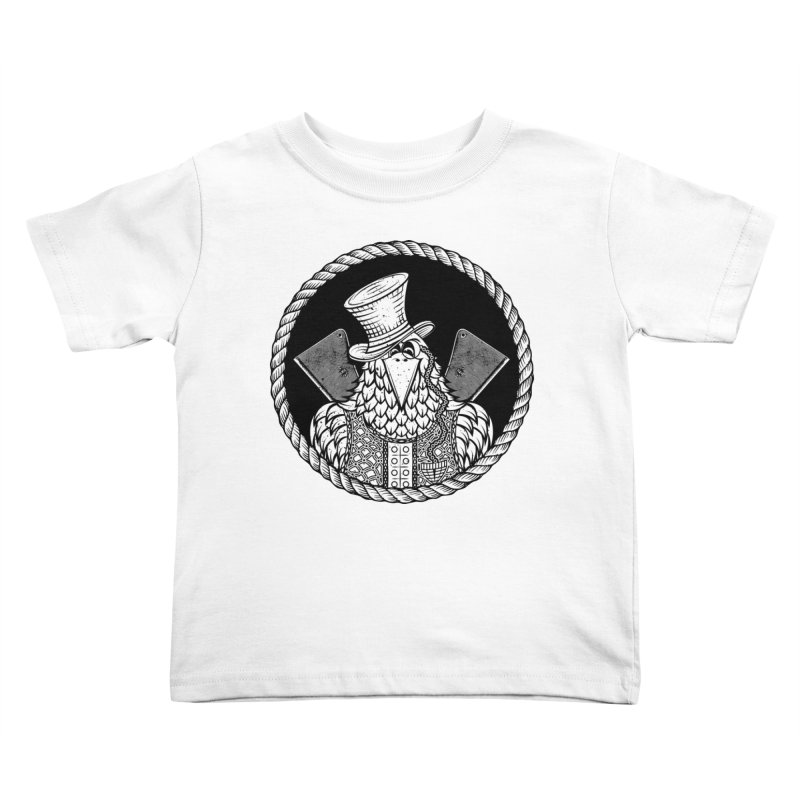 Not so friendly Raven Kids Toddler T-Shirt by thebraven's Artist Shop