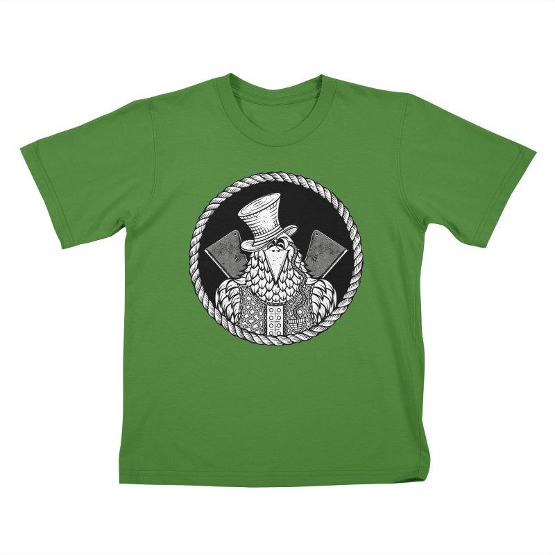 Not so friendly Raven Kids T-shirt by thebraven's Artist Shop