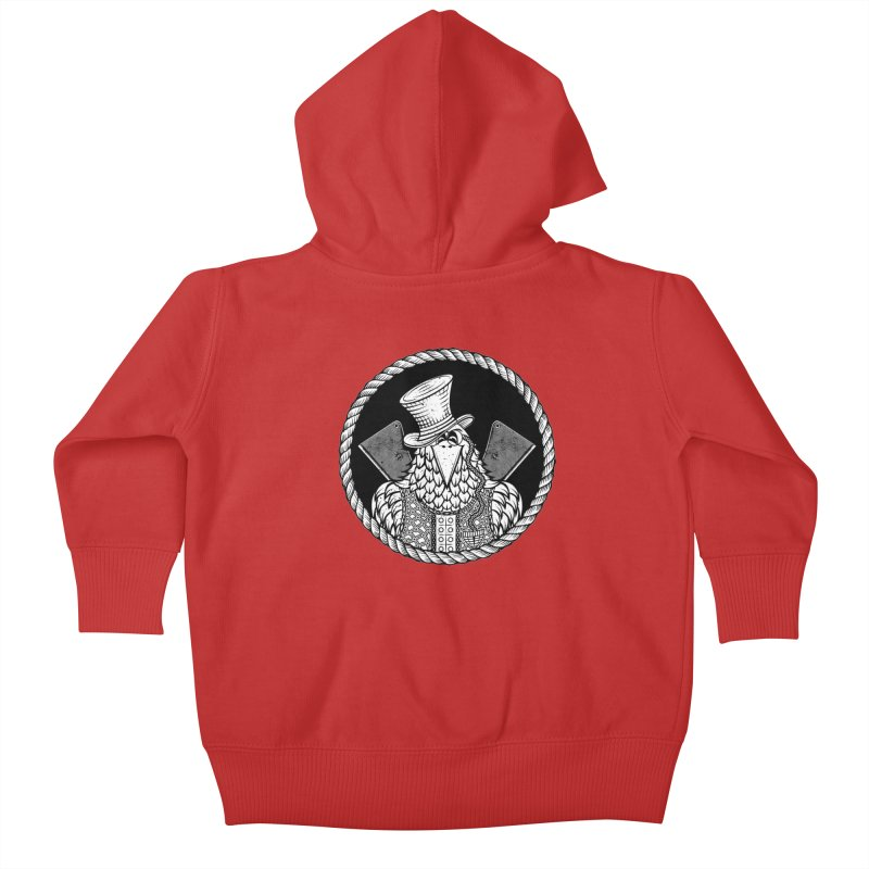 Not so friendly Raven Kids Baby Zip-Up Hoody by thebraven's Artist Shop