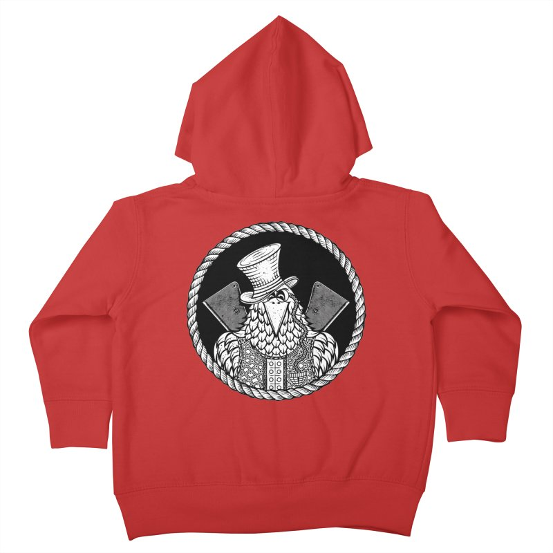 Not so friendly Raven Kids Toddler Zip-Up Hoody by thebraven's Artist Shop
