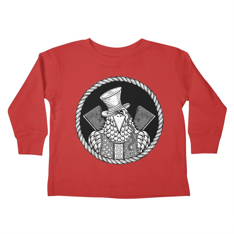 Not so friendly Raven Kids Toddler Longsleeve T-Shirt by thebraven's Artist Shop