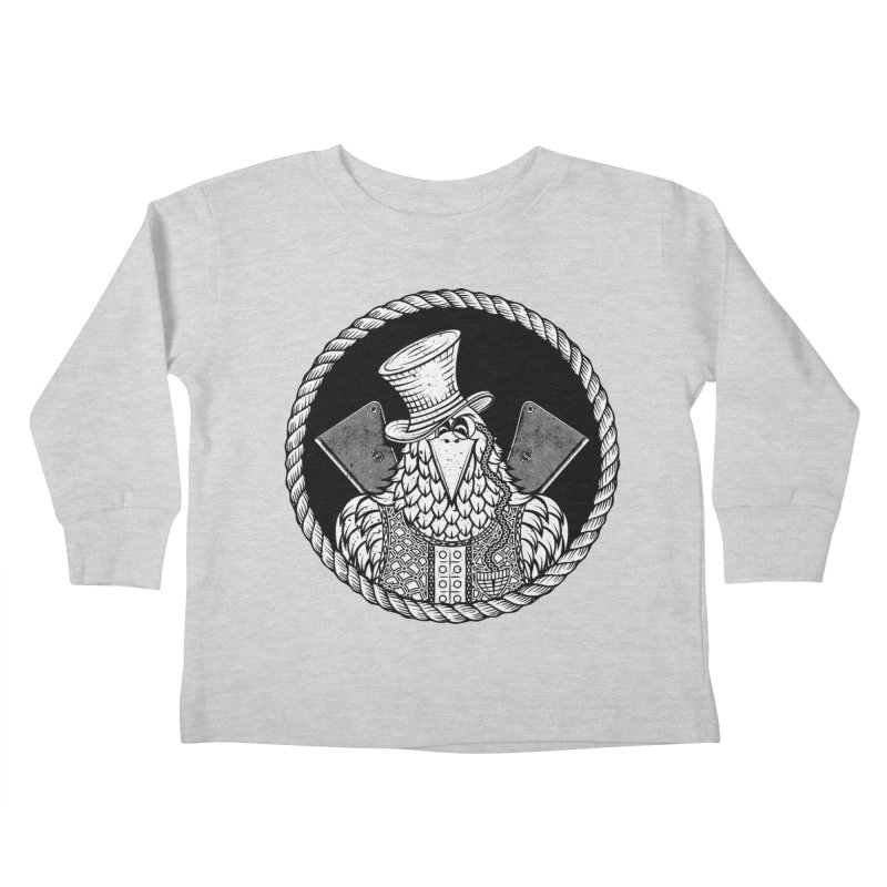 Not so friendly Raven Kids Toddler Longsleeve T-Shirt by thebraven's Artist Shop
