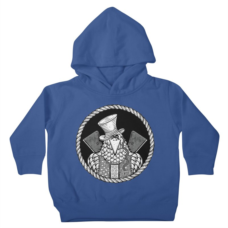 Not so friendly Raven Kids Toddler Pullover Hoody by thebraven's Artist Shop