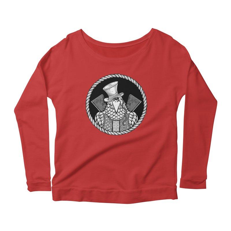 Not so friendly Raven Women's Scoop Neck Longsleeve T-Shirt by thebraven's Artist Shop