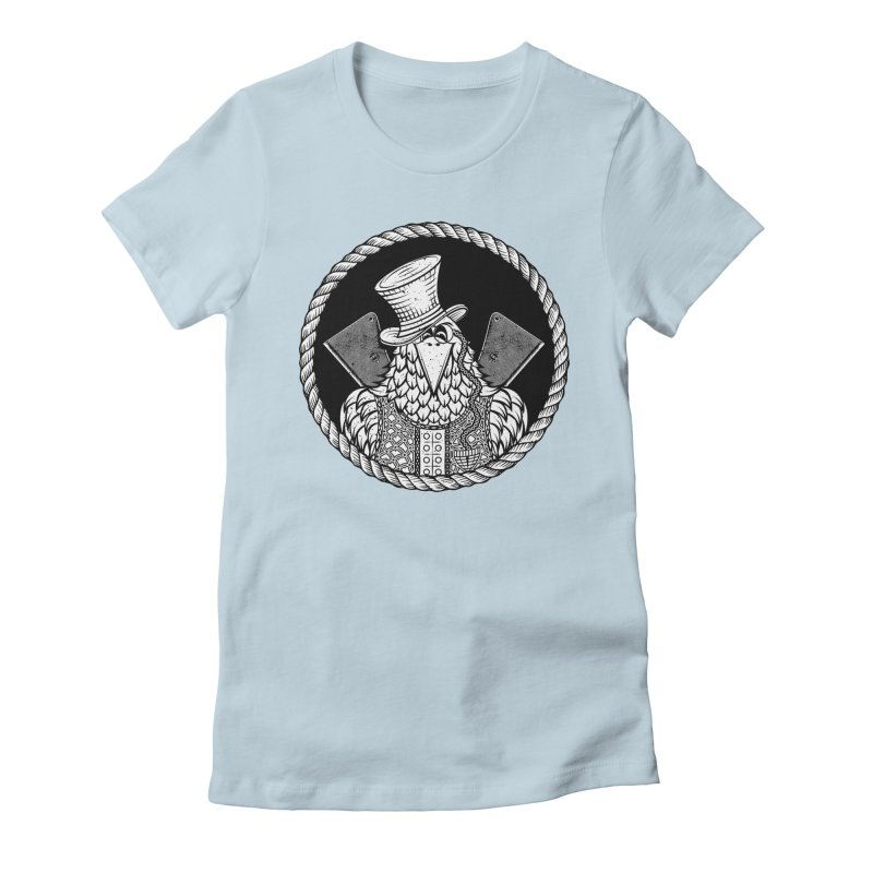 Not so friendly Raven Women's Fitted T-Shirt by thebraven's Artist Shop