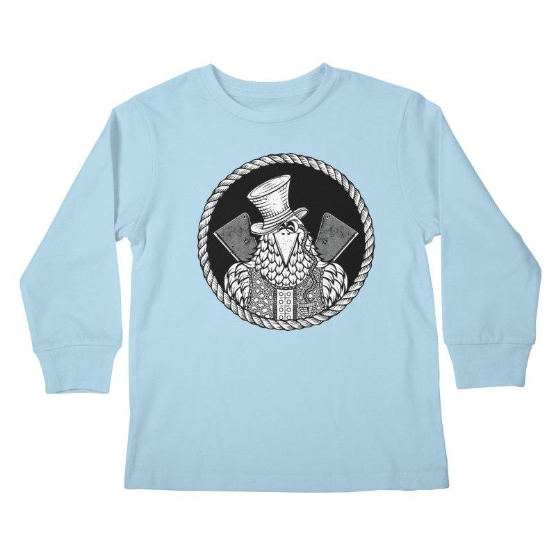 Not so friendly Raven Kids Longsleeve T-Shirt by thebraven's Artist Shop