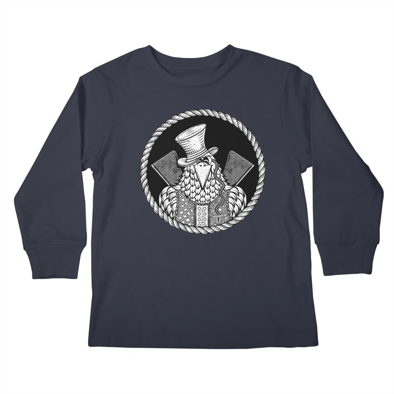 Not so friendly Raven Kids Longsleeve T-Shirt by thebraven's Artist Shop