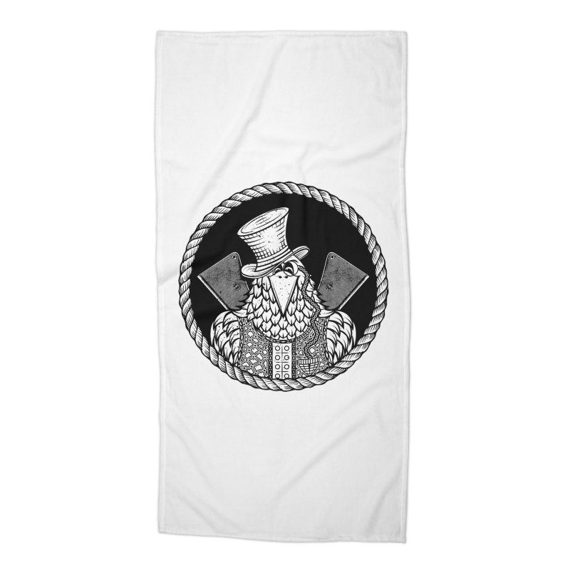 Not so friendly Raven Accessories Beach Towel by thebraven's Artist Shop