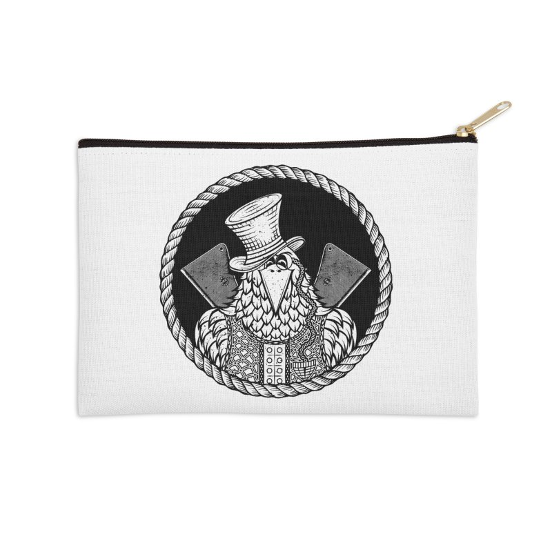 Not so friendly Raven Accessories Zip Pouch by thebraven's Artist Shop