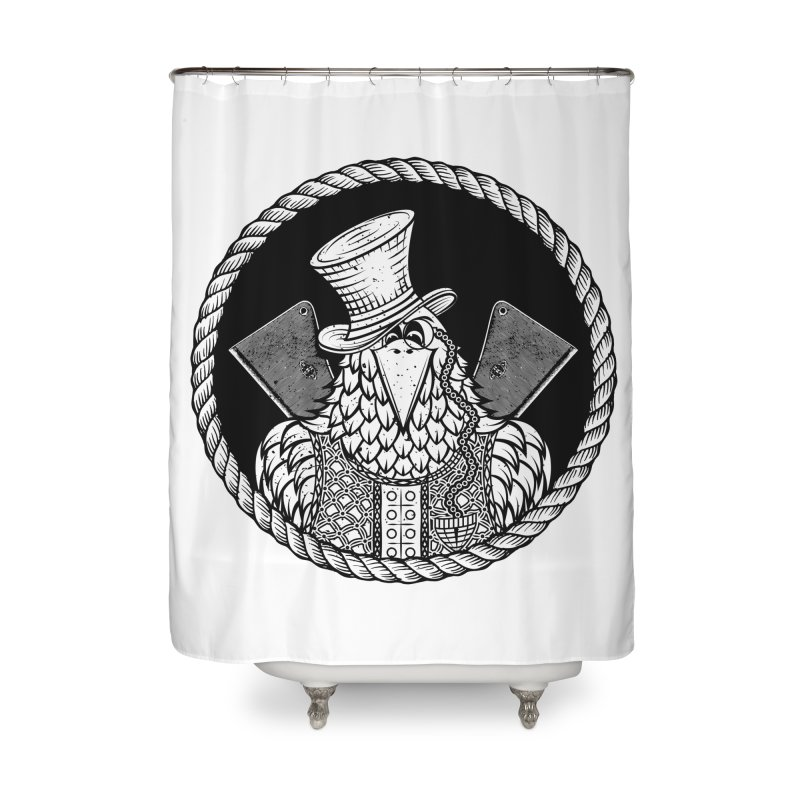 Not so friendly Raven Home Shower Curtain by thebraven's Artist Shop