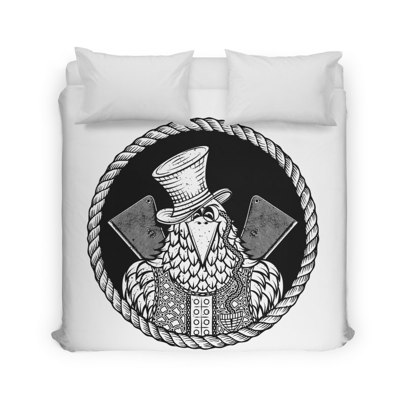 Not so friendly Raven Home Duvet by thebraven's Artist Shop