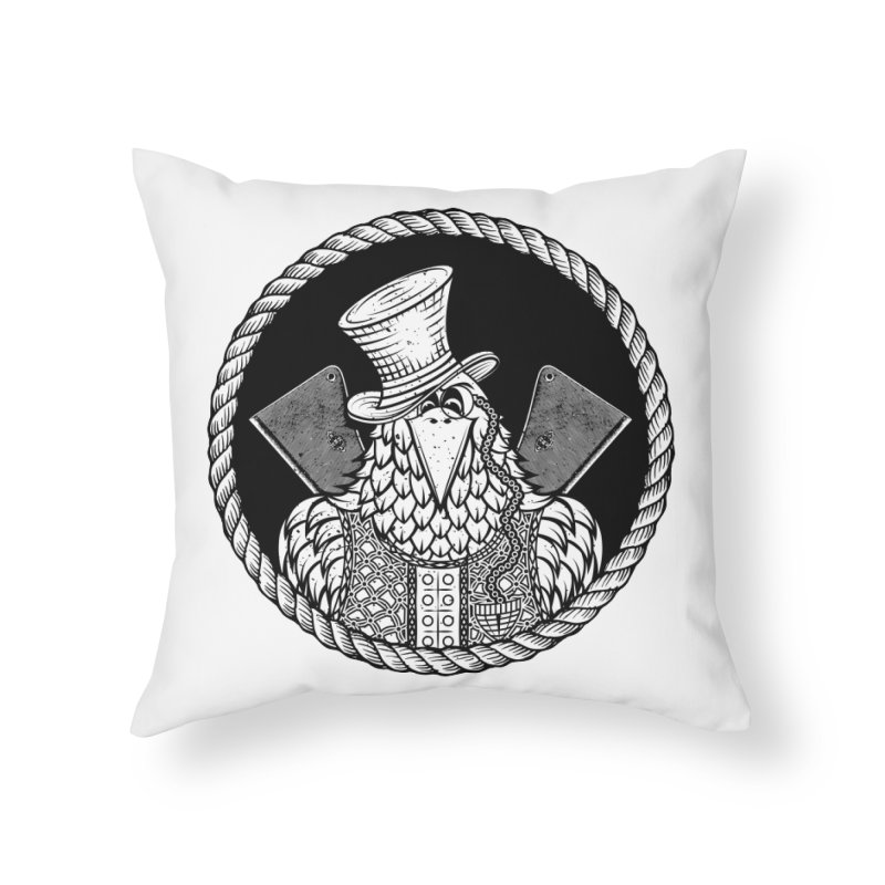 Not so friendly Raven Home Throw Pillow by thebraven's Artist Shop