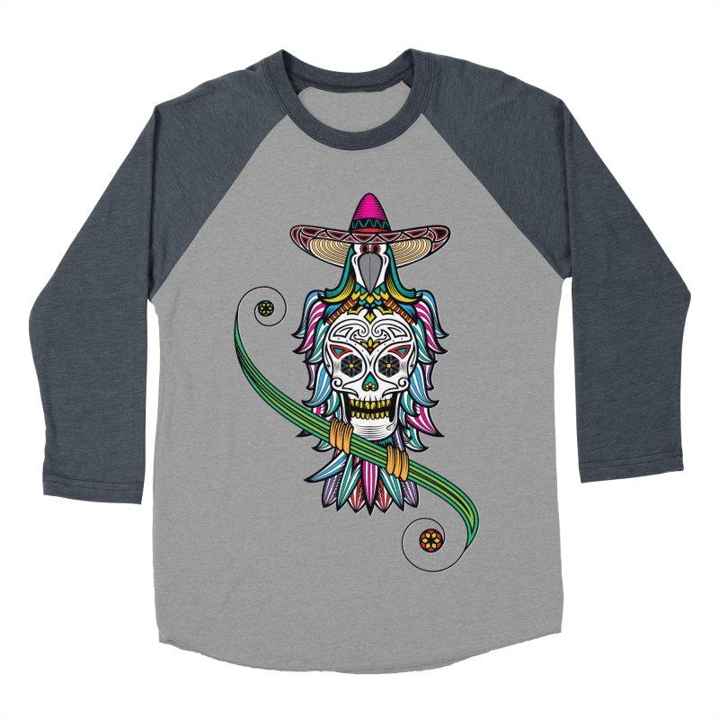 Los dios de muertos Women's Baseball Triblend Longsleeve T-Shirt by thebraven's Artist Shop
