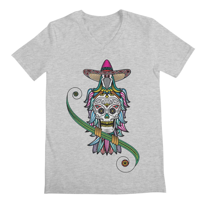 Los dios de muertos Men's Regular V-Neck by thebraven's Artist Shop