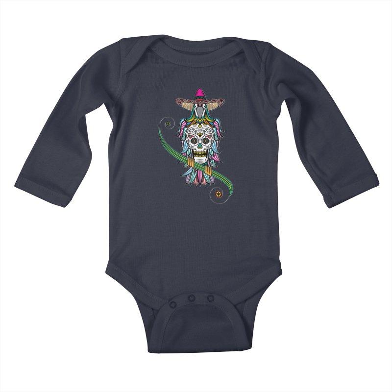 Los dios de muertos Kids Baby Longsleeve Bodysuit by thebraven's Artist Shop