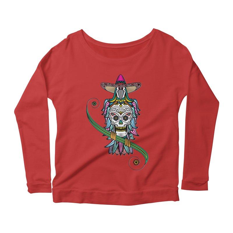 Los dios de muertos Women's Scoop Neck Longsleeve T-Shirt by thebraven's Artist Shop