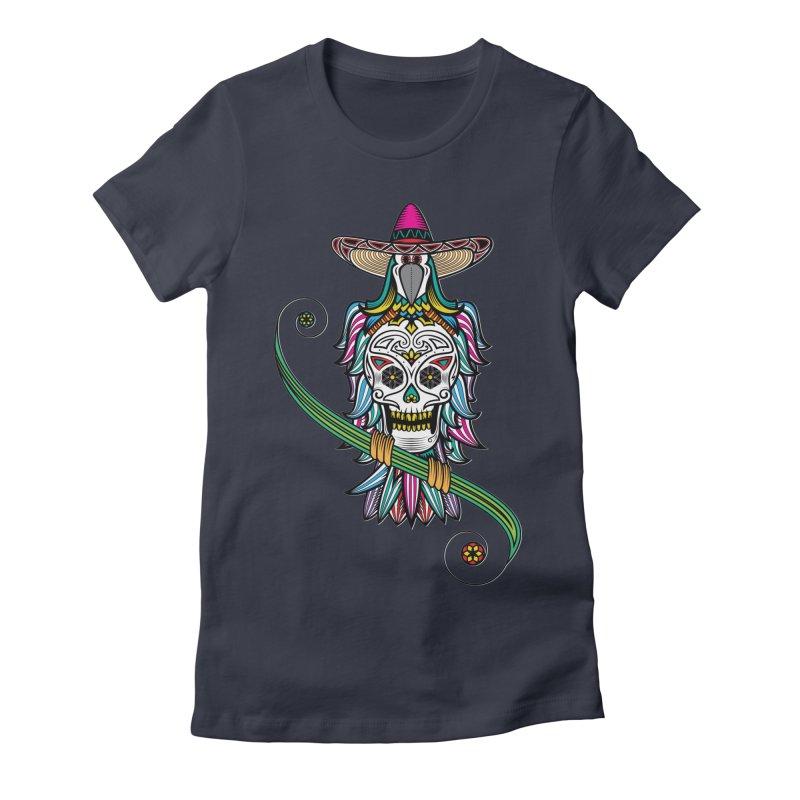 Los dios de muertos Women's Fitted T-Shirt by thebraven's Artist Shop