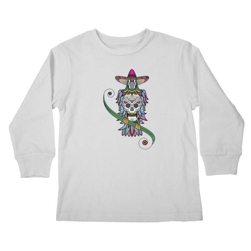 Los dios de muertos Kids Longsleeve T-Shirt by thebraven's Artist Shop