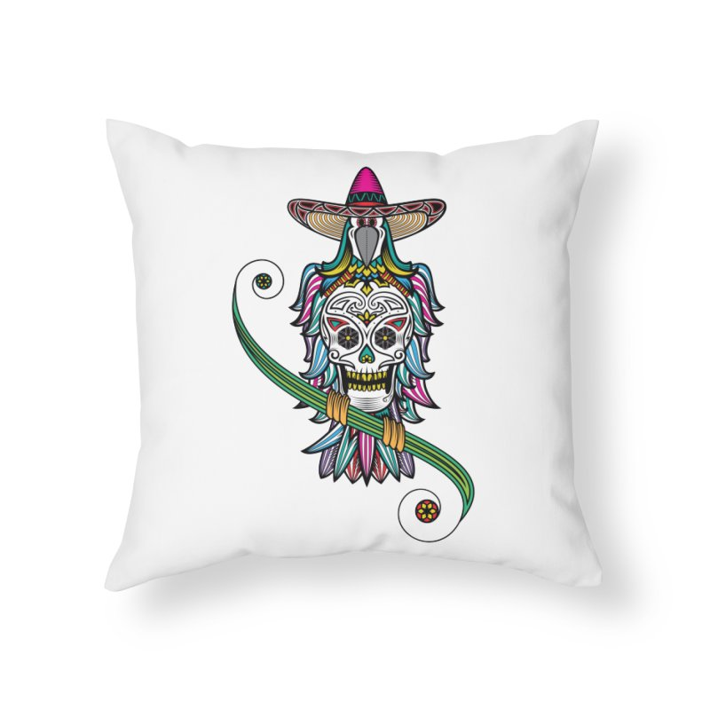 Los dios de muertos Home Throw Pillow by thebraven's Artist Shop
