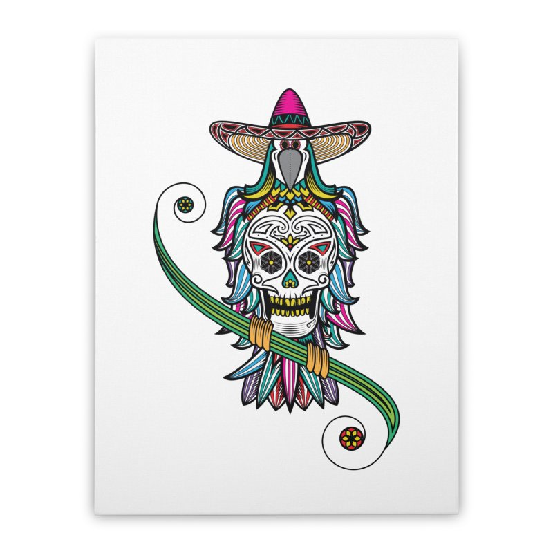 Los dios de muertos Home Stretched Canvas by thebraven's Artist Shop
